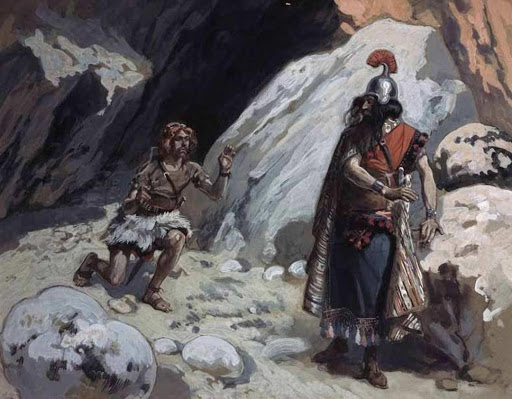 Paining: David and Saul in the Cave by James Tissot